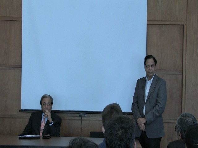 At Columbia University with Professor Arvind Panagaria on 1st November 2011