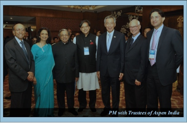 PM Singapore with trustees of Aspen India